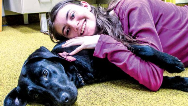 Mikaela Piasecki, 18, is blind and previously used a cane to travel through her sightless world. Now, Simona provides friendship as well as guide dog skills for her.