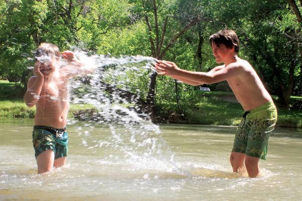 boys playing at Ayres Natural Bridge Park