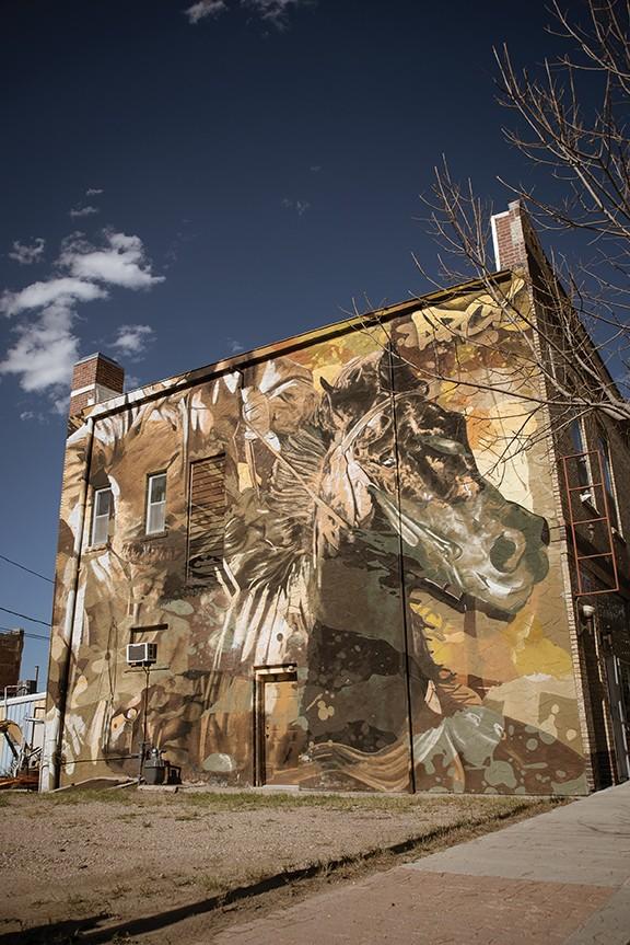 Mural in downtown Glenrock